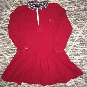 3 for $20🌺 GIRLS RALPH LAUREN RED RUFFLED DRESS
